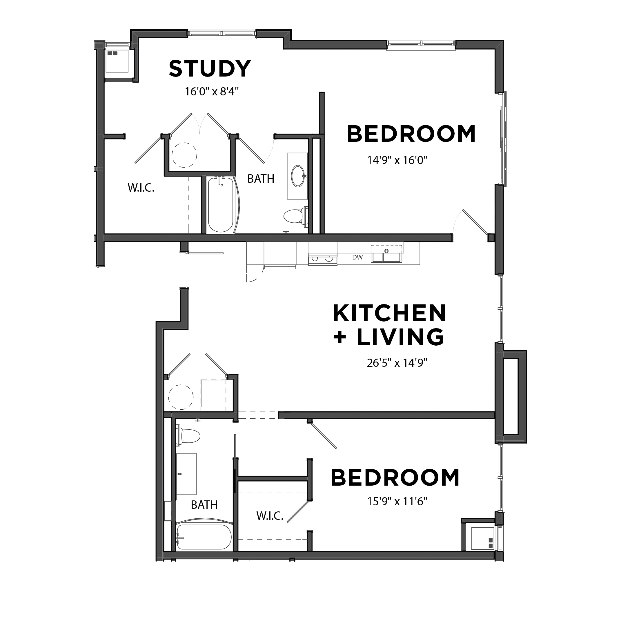 The 2 Bedroom 7 (Orange)