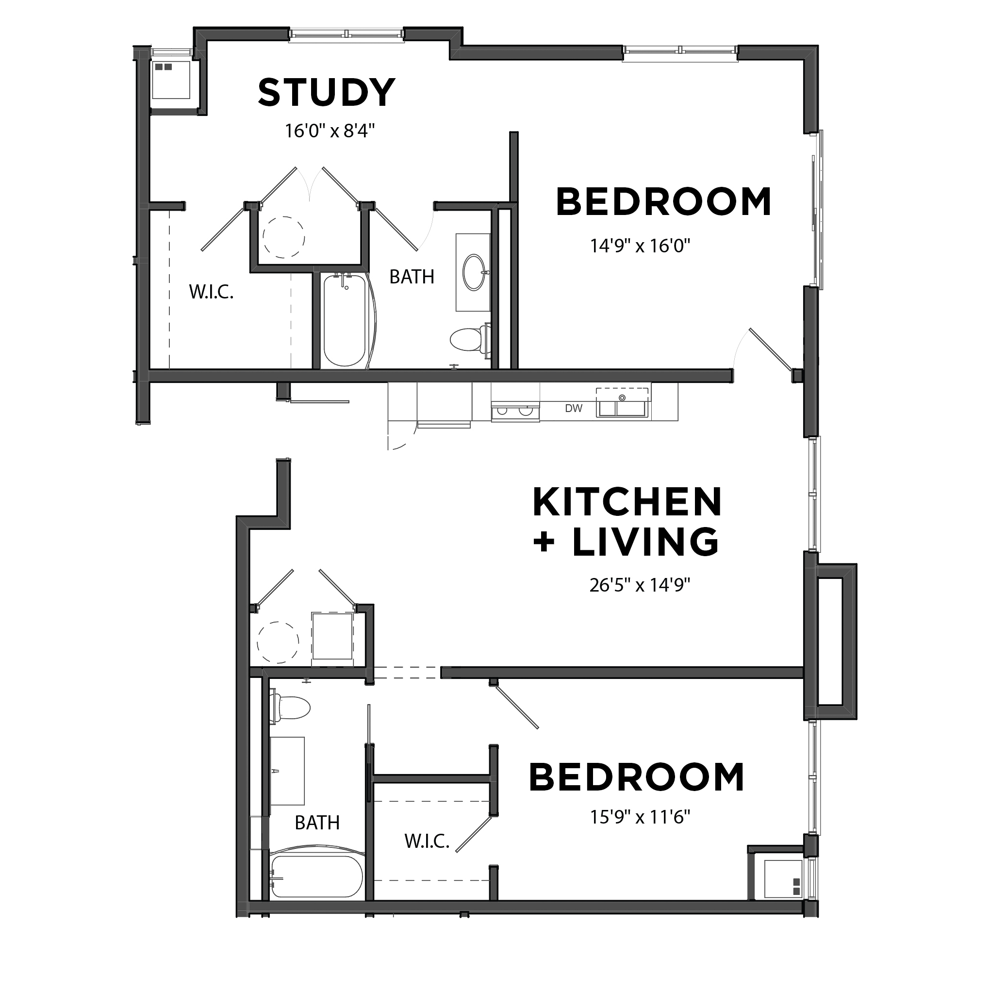 The Two Bedroom 7 (Blue)