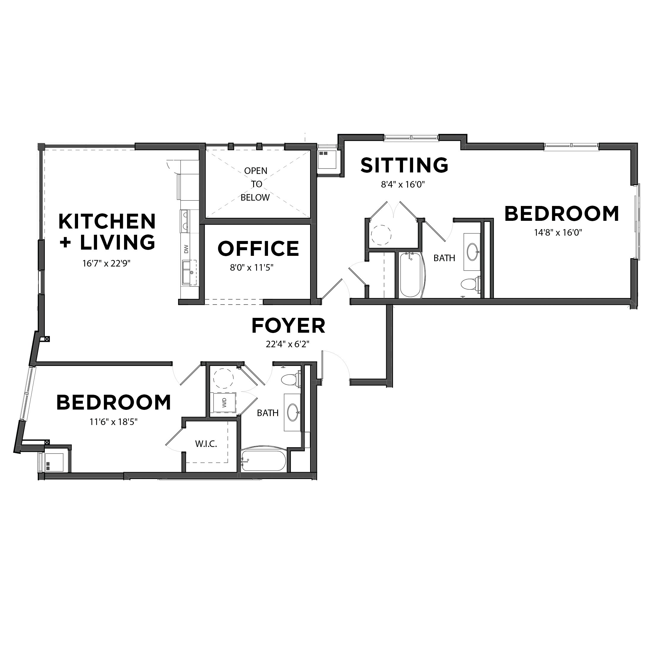 The Two Bedroom 8 (Blue)