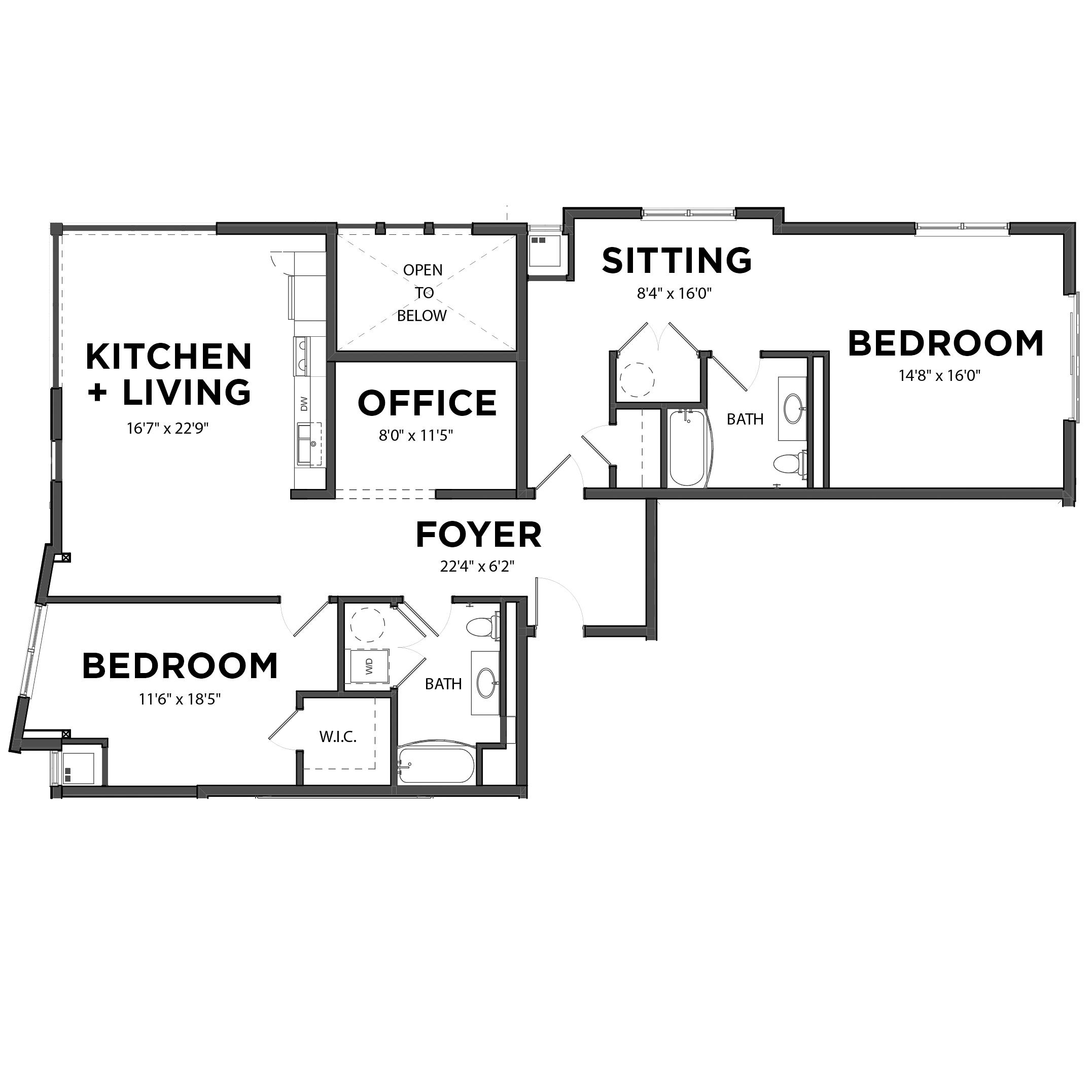 The 2 Bedroom 8 (Orange)