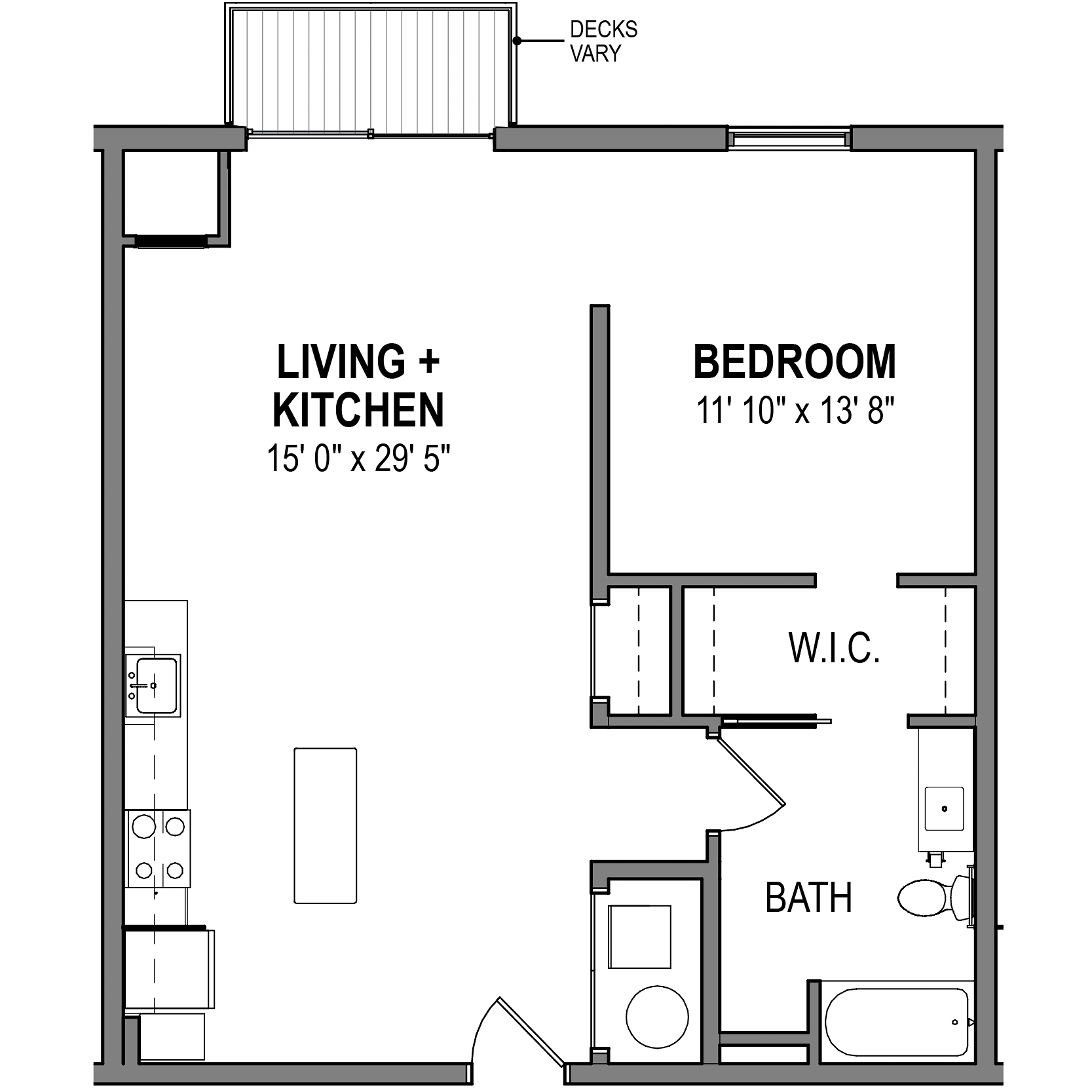 Brass 1 Bedroom 1 Bath