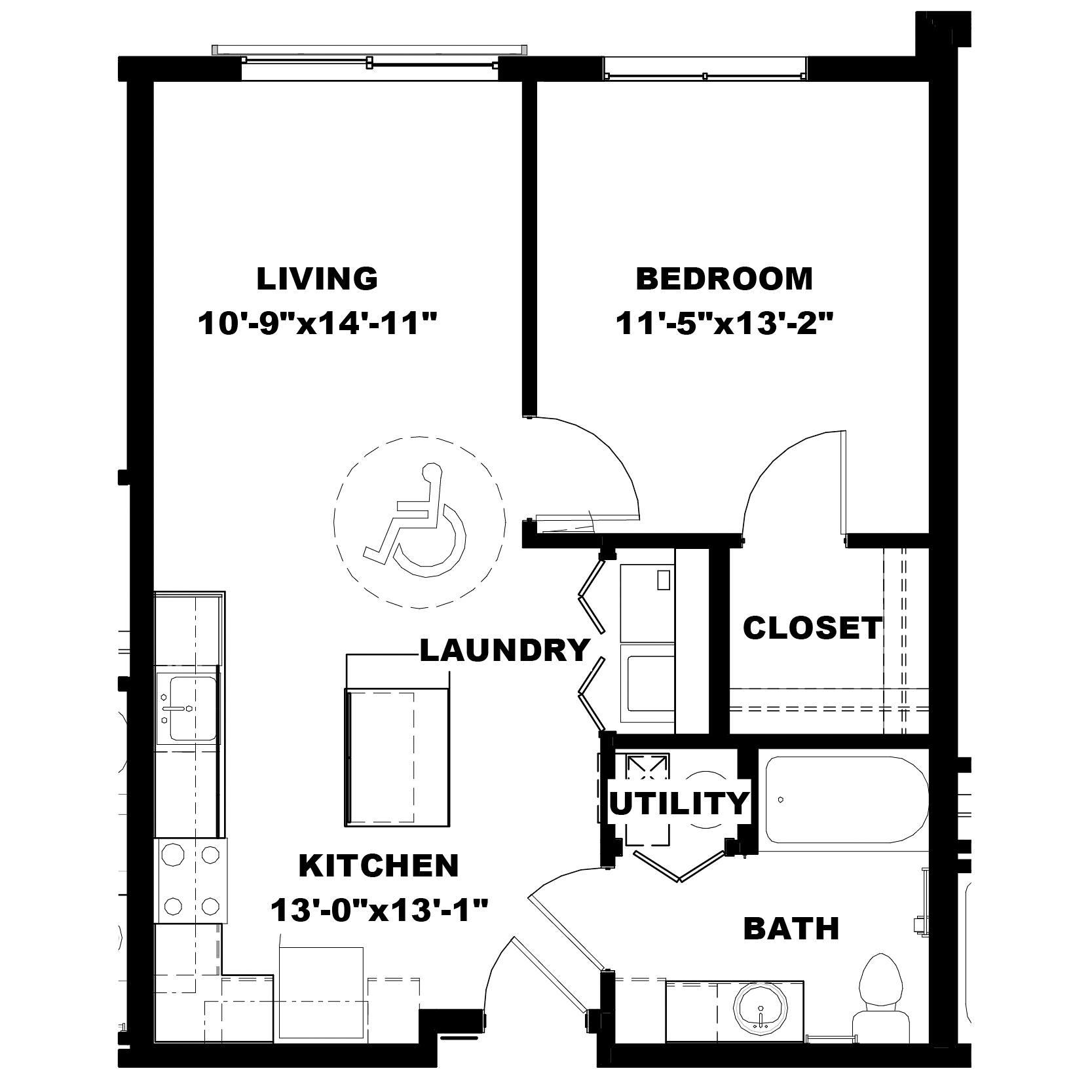 One Bedroom A1 (ADA)