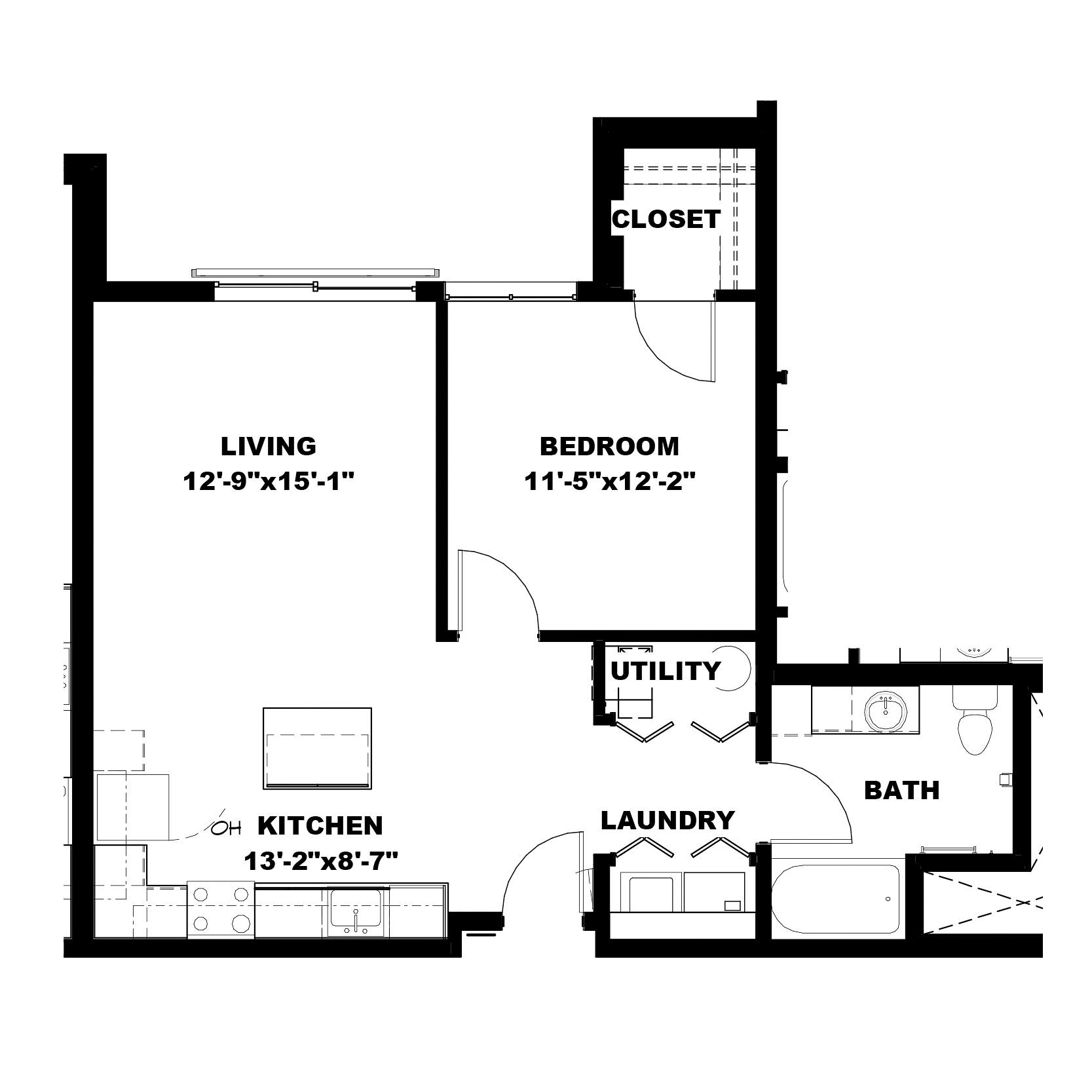 One Bedroom A2