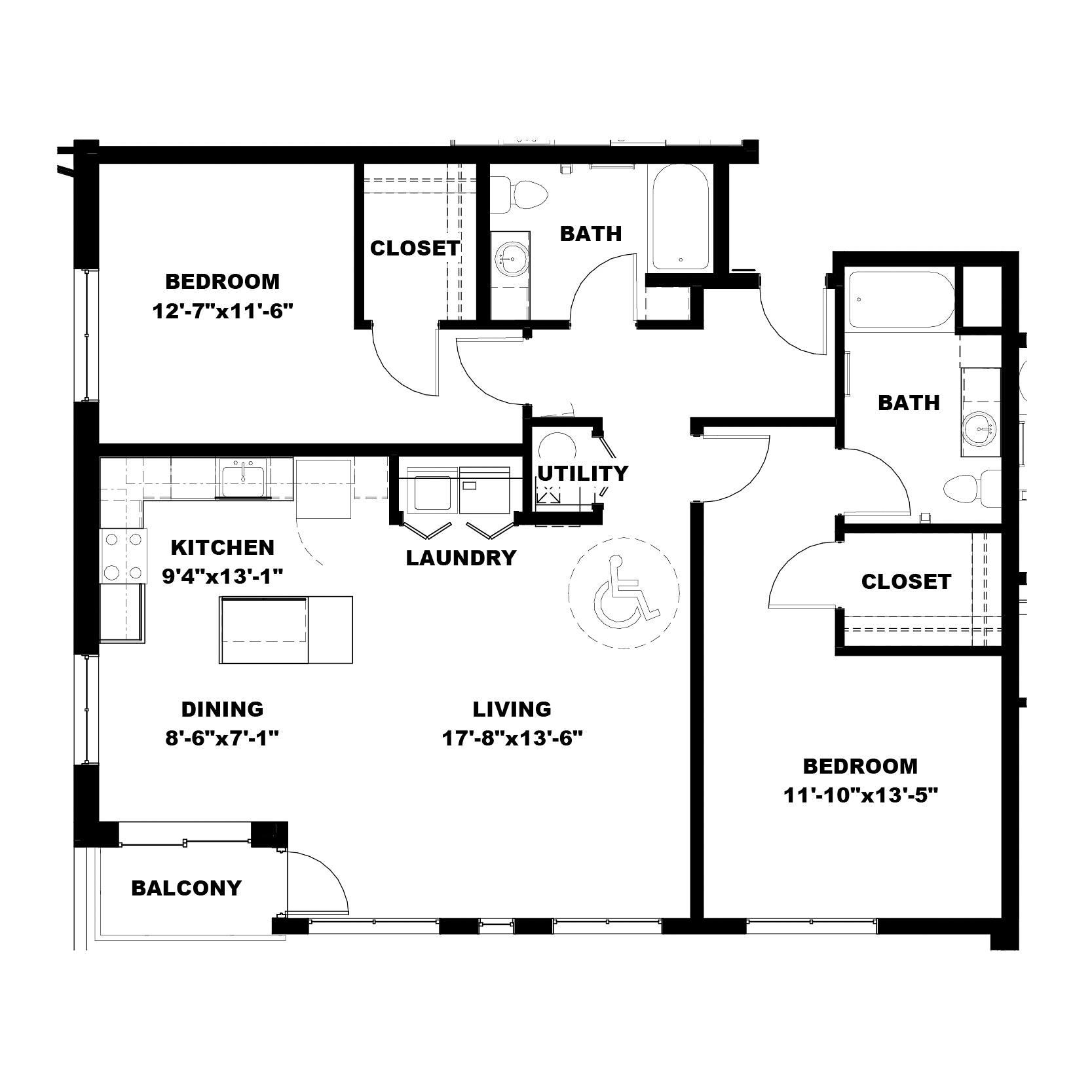 Two Bedroom B3 (ADA)