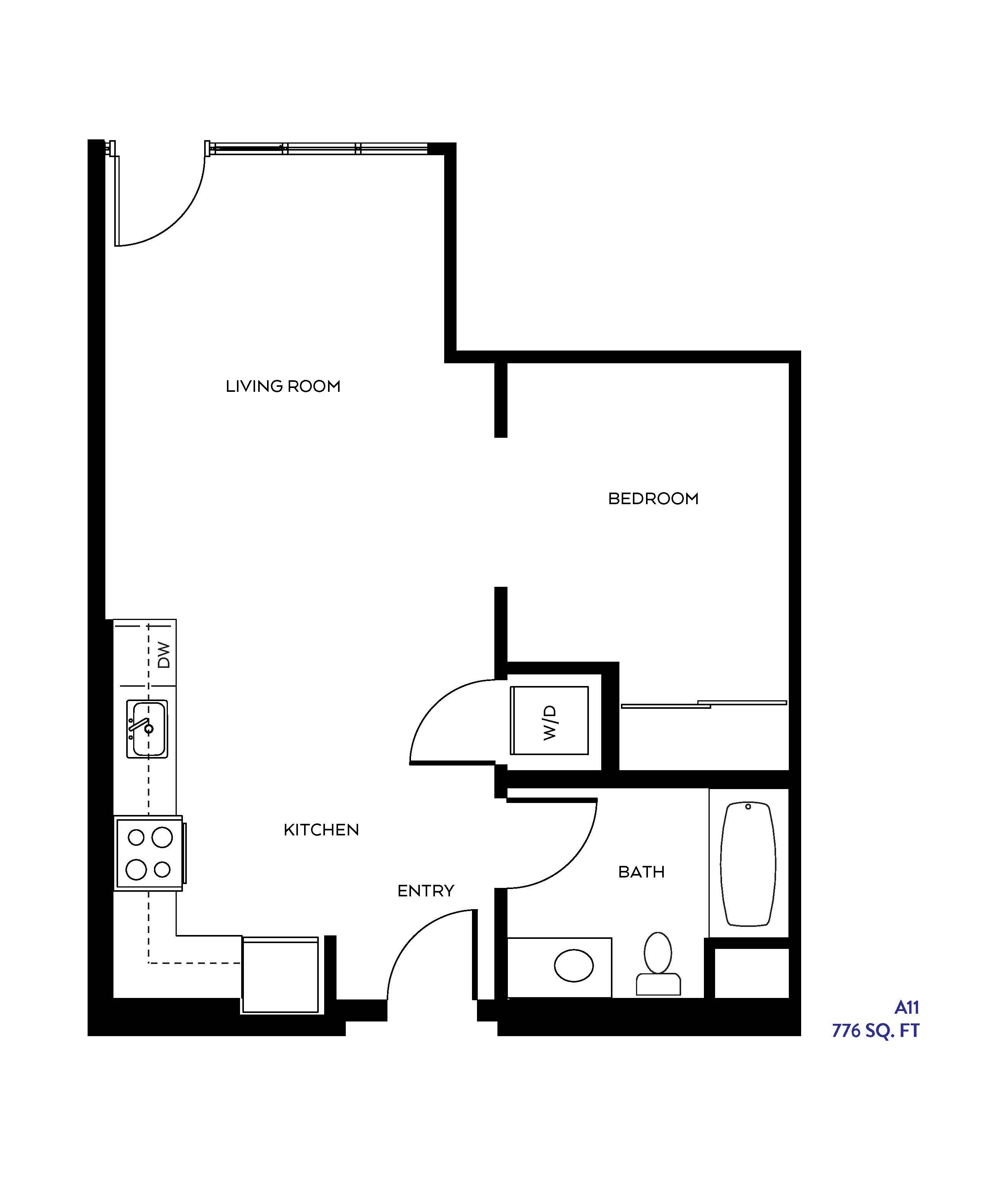 The A11 floor plan