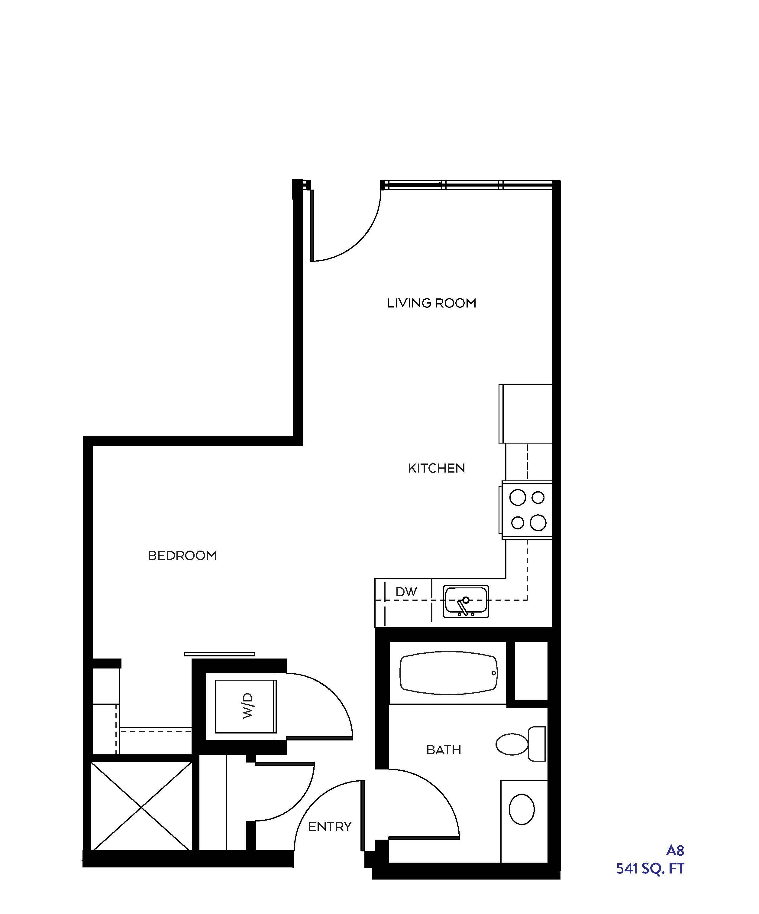 The A8 floor plan