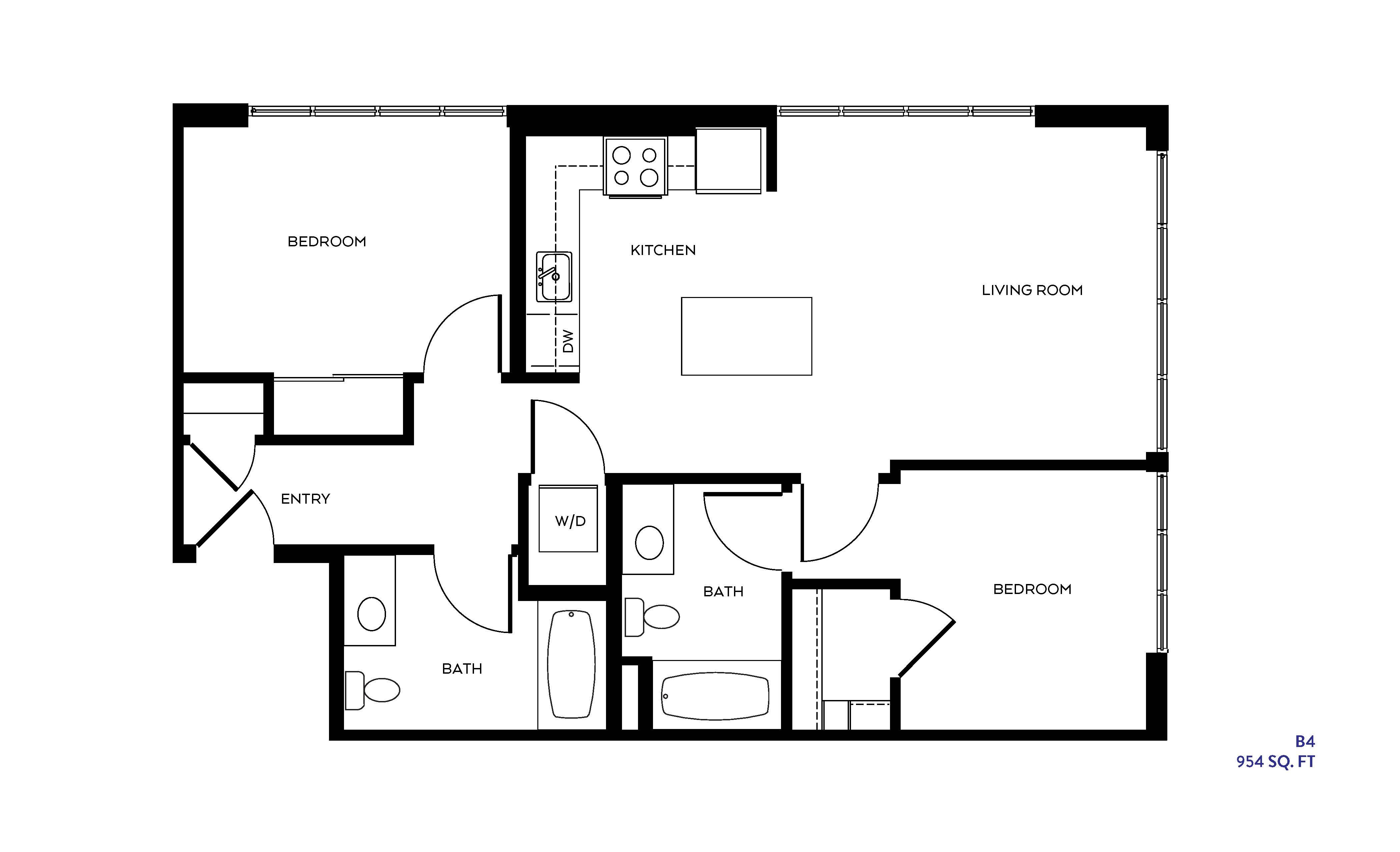 The B4 floor plan
