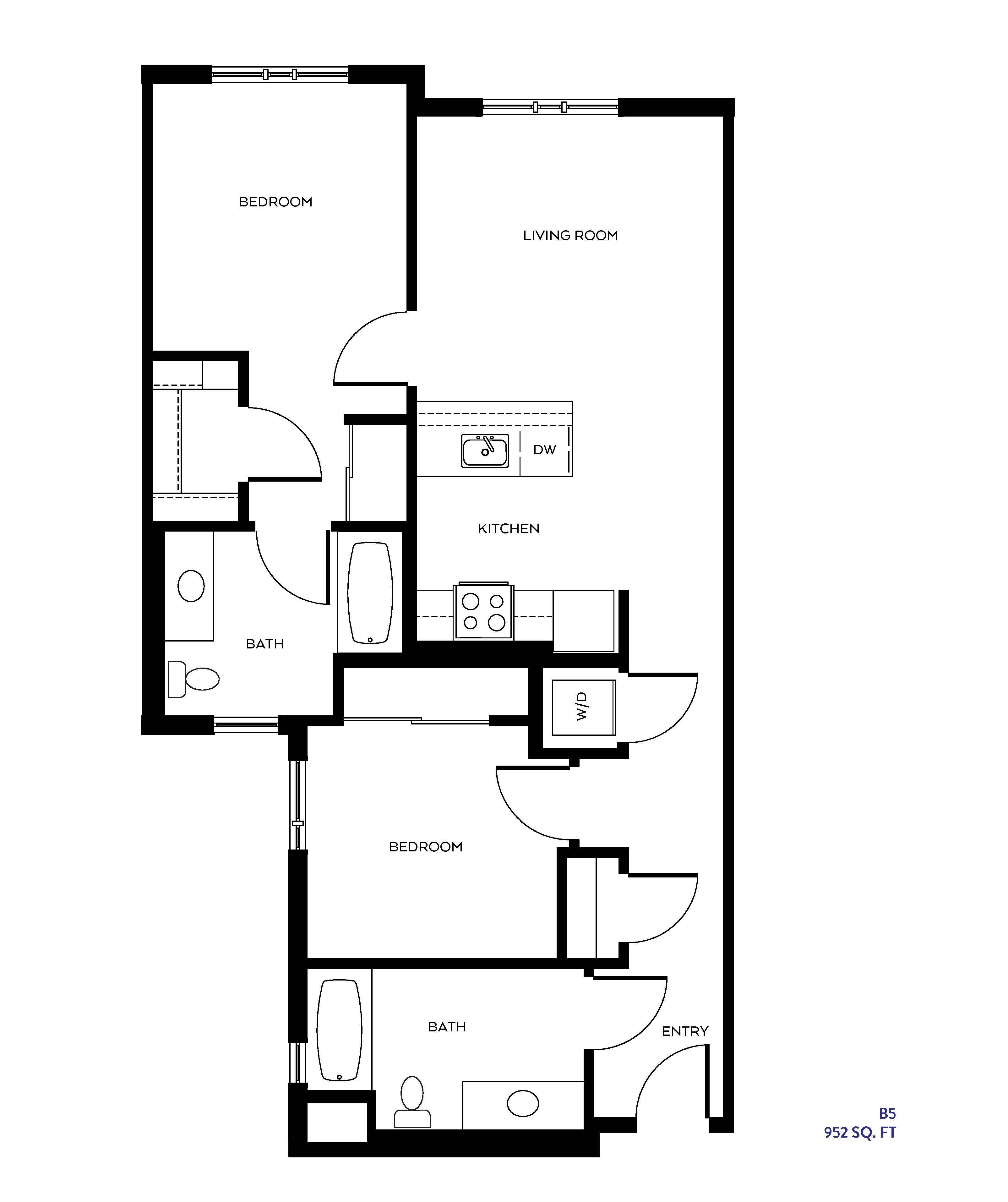 The B5 floor plan