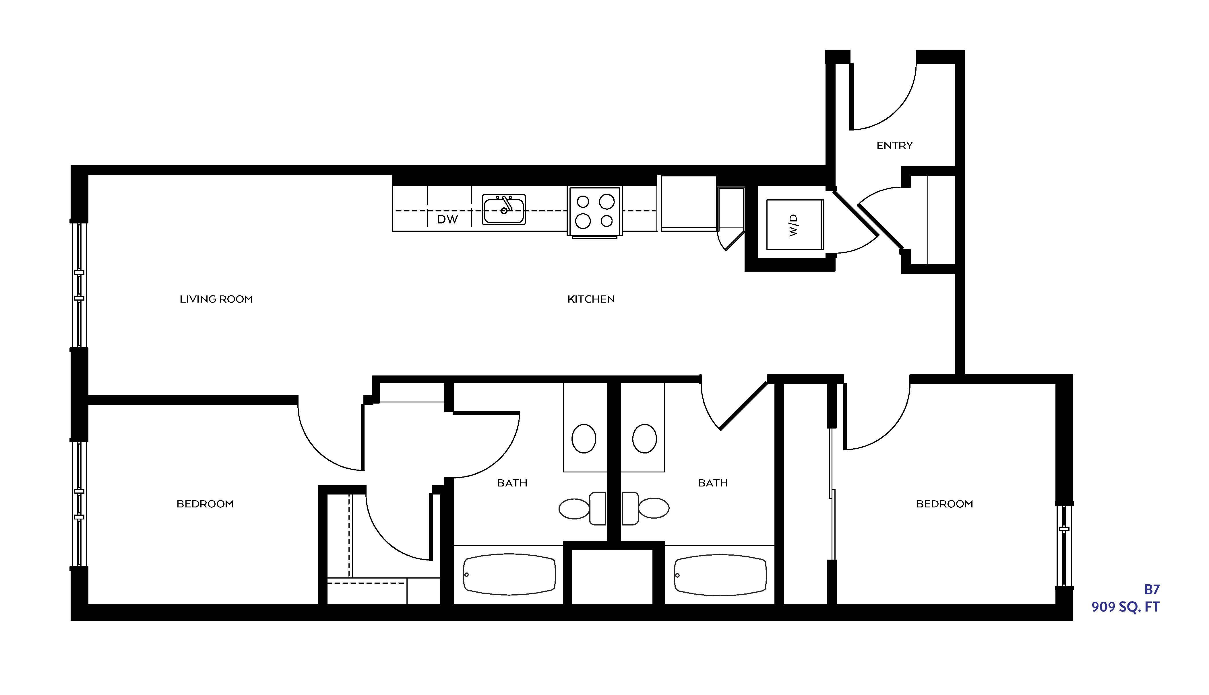 The B7 floor plan