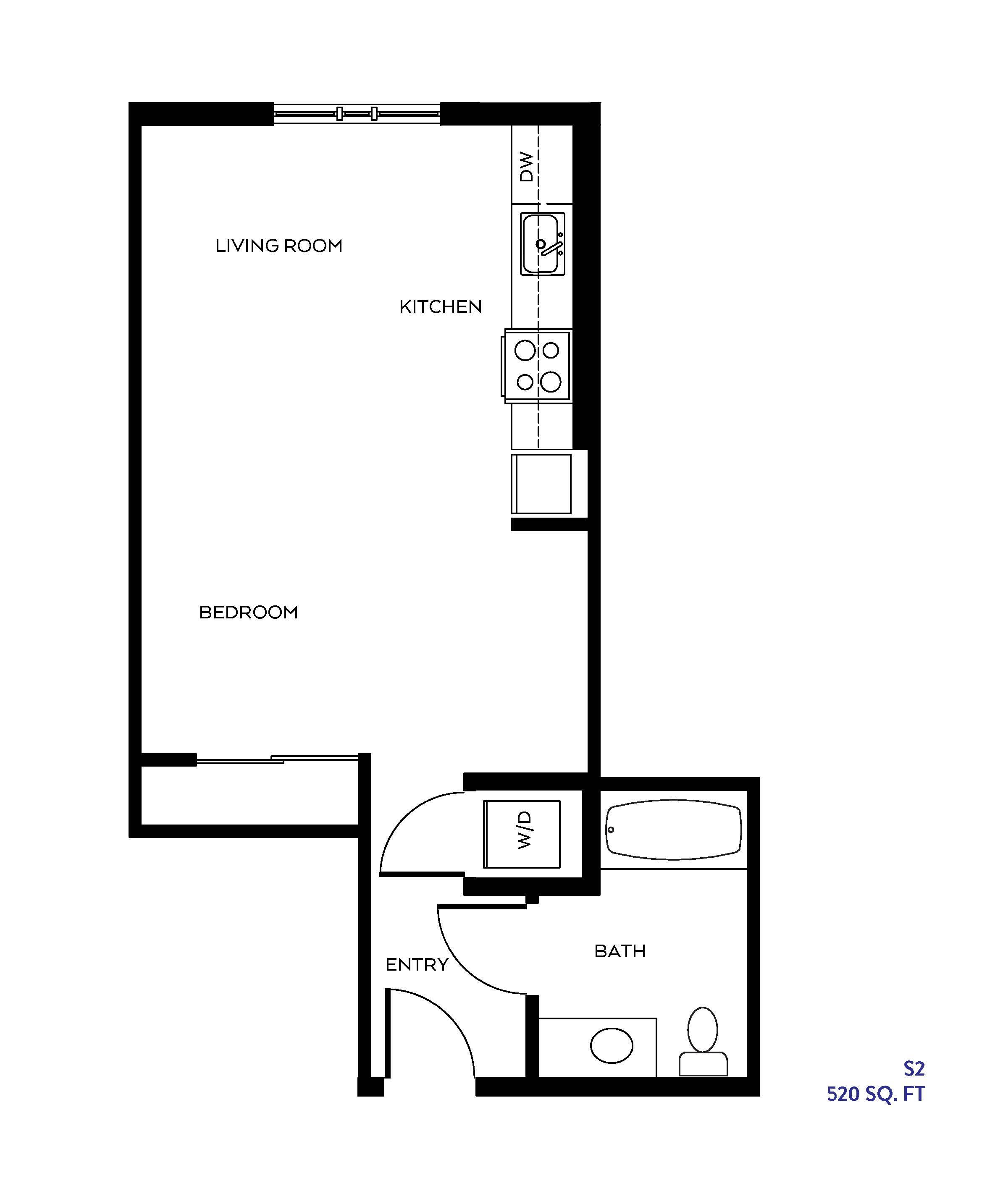 The S2 floor plan