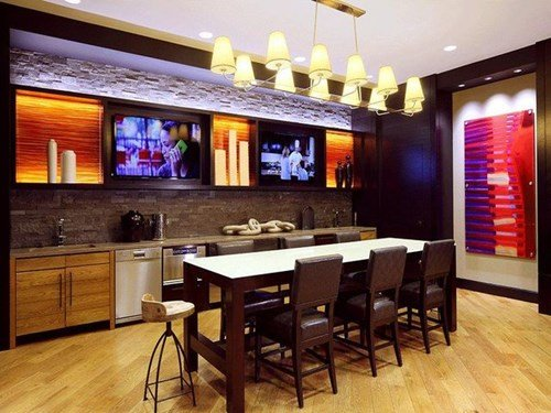 Entertainment Room with Luxe Furnishings