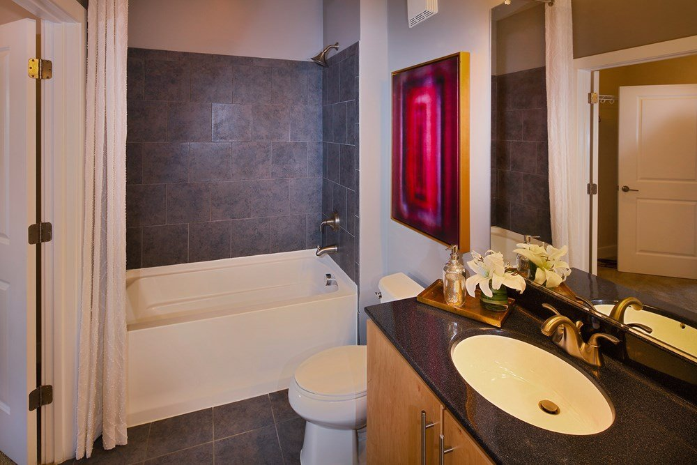 Bathrooms with High-Style Finishes