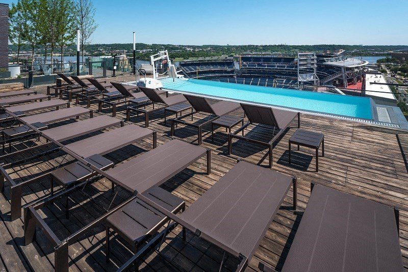 Rooftop pool and deck