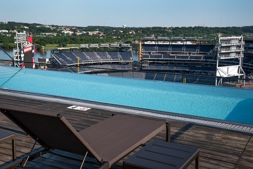 Rooftop Pool and Nationals Park views