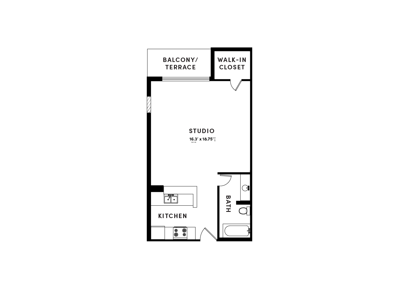 floor plan image of apartment_B611