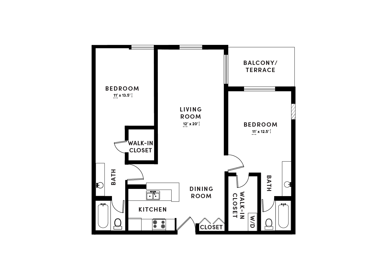 floor plan image of apartment_B204