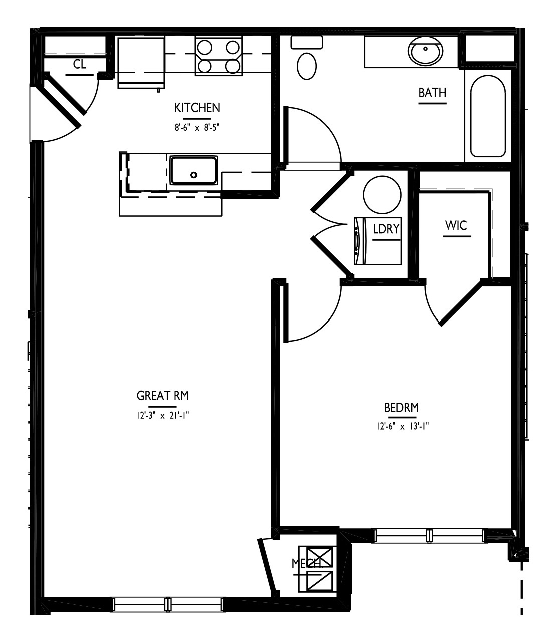 floorplan of apartment 2002