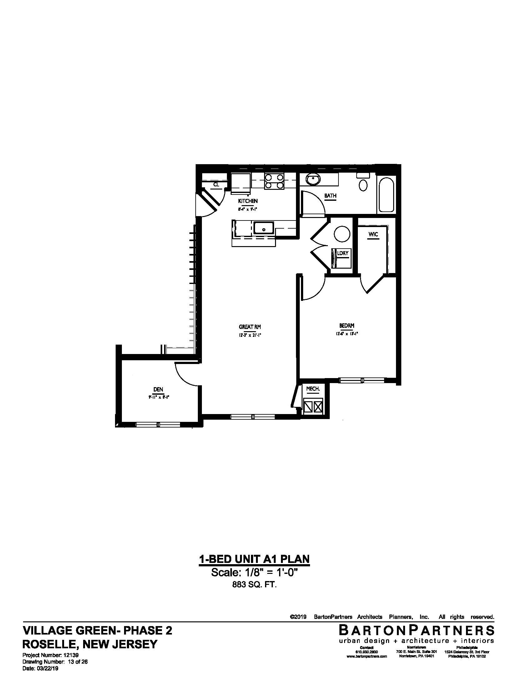 floorplan of apartment 3539