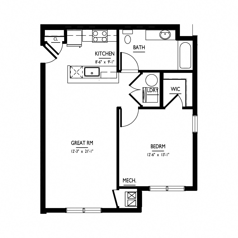 floorplan of apartment 0702
