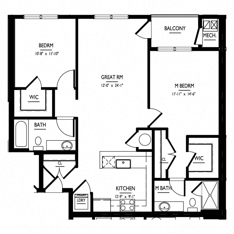 floorplan of apartment 0223