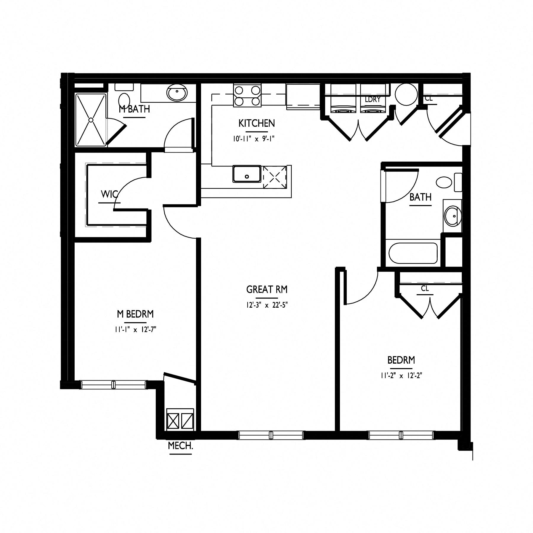 floorplan of apartment 0112