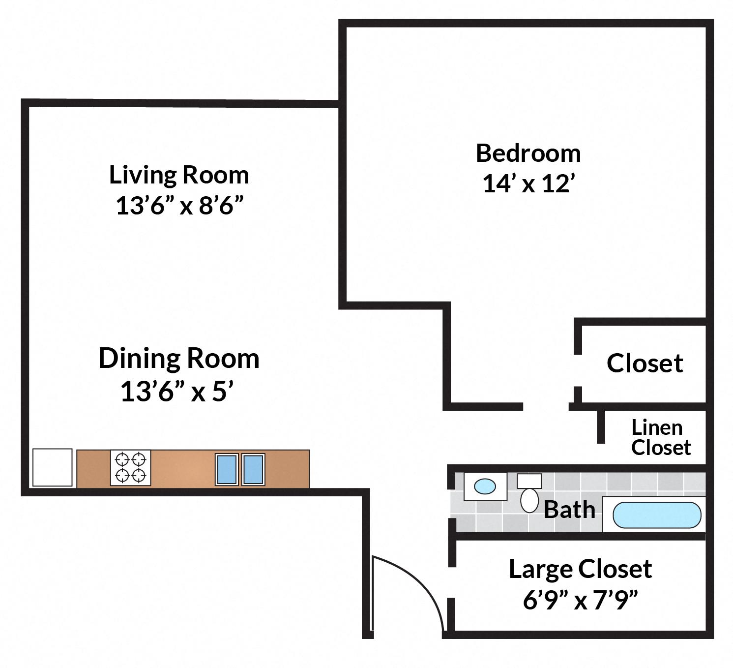 1 bedroom 05 Tier
