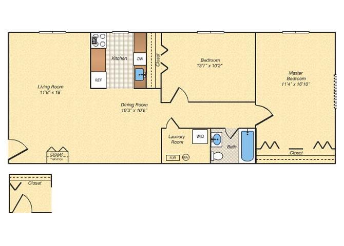 1, 2 & 3 bedroom apartments in alexandria, va | rose hill of