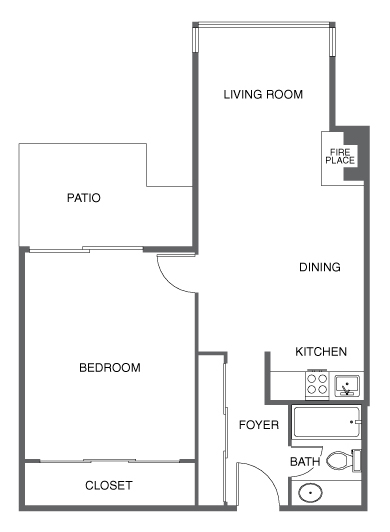 Renovated 1 BED, 1 BATH