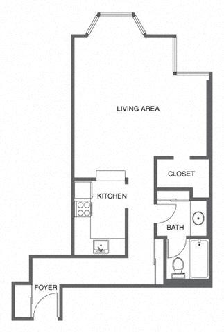 Studio Apartment San Francisco studio - trinity towers apartments