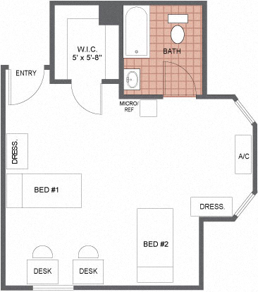 Axis on 36th Street - Double Plus Floor Plan Picture