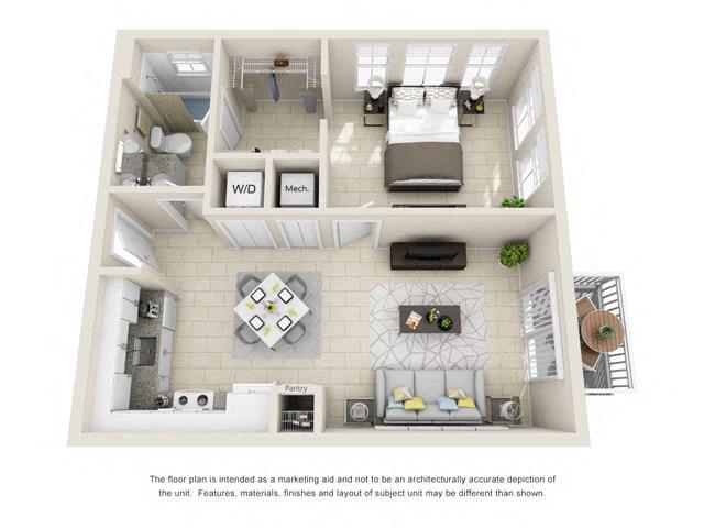 Floorplan A1 Corner Image