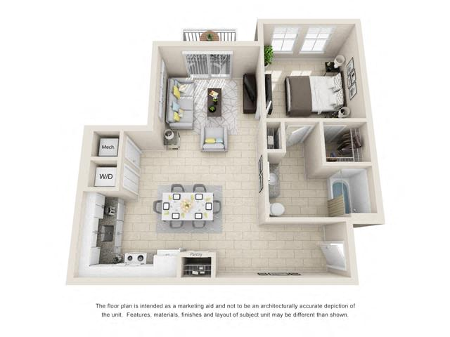 Floorplan A2A Interior Image