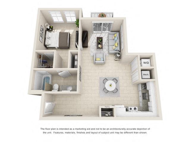 Floorplan A2 Interior Image