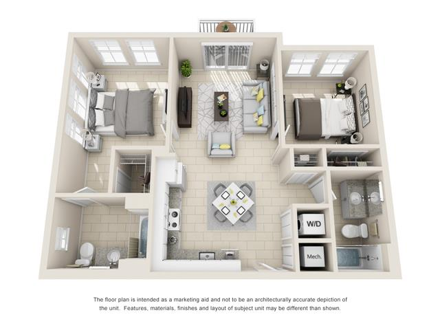 Floorplan B1A Corner Image