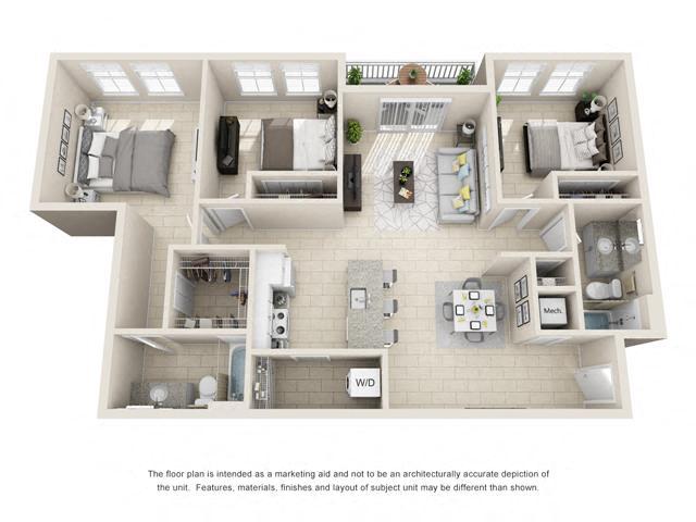 Floorplan C1 Interior Image