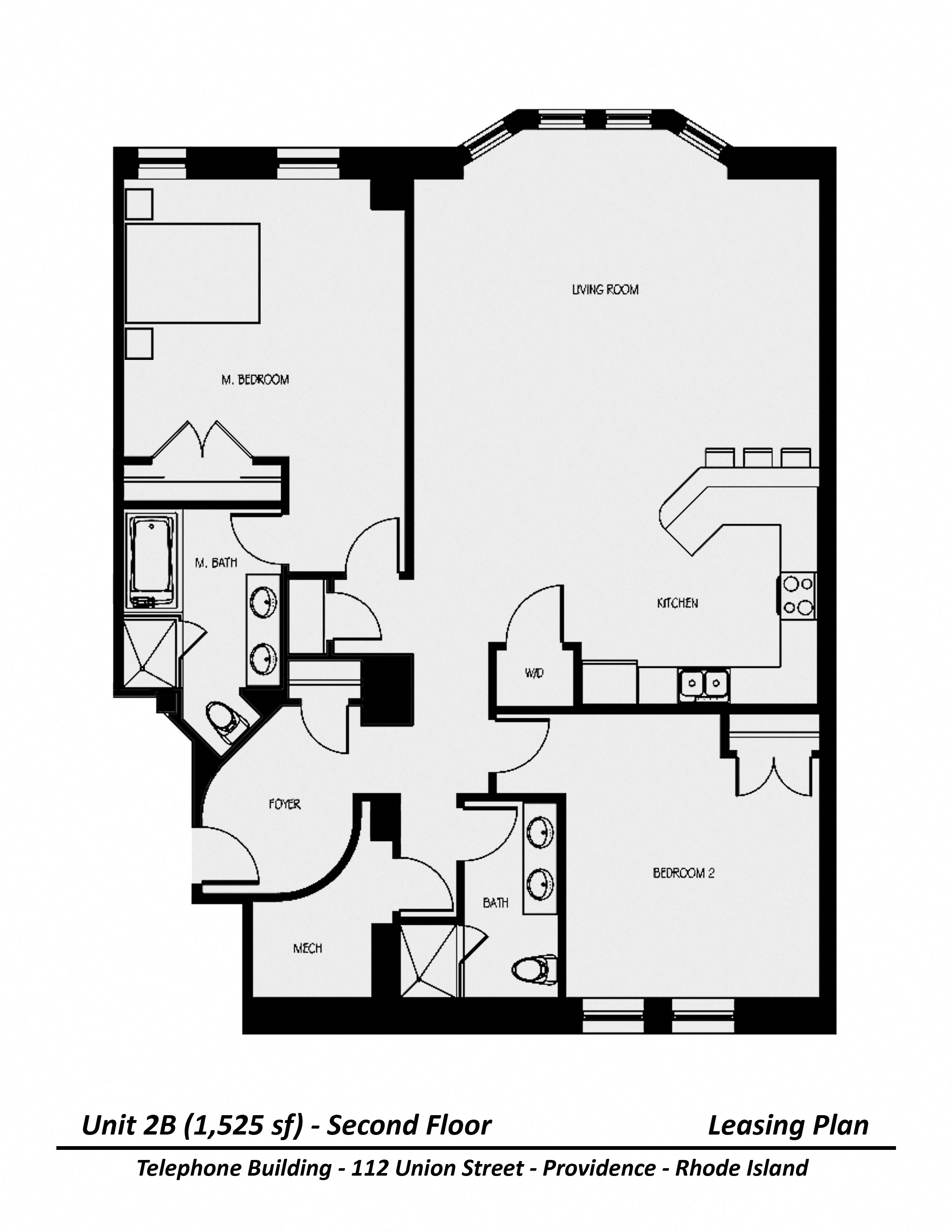 Click to view Floor plan Two Bedroom image 2