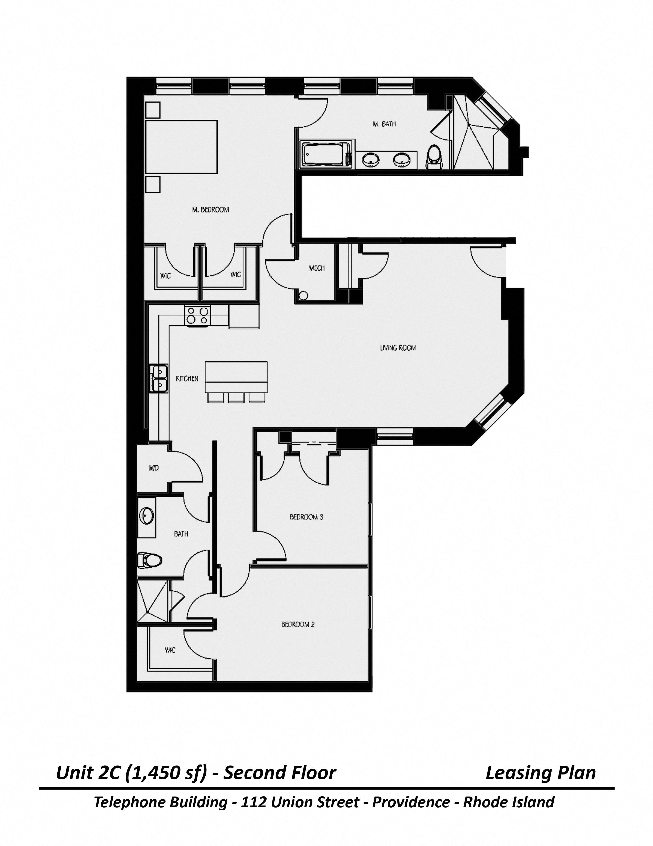 Click to view Three Bedroom floor plan gallery