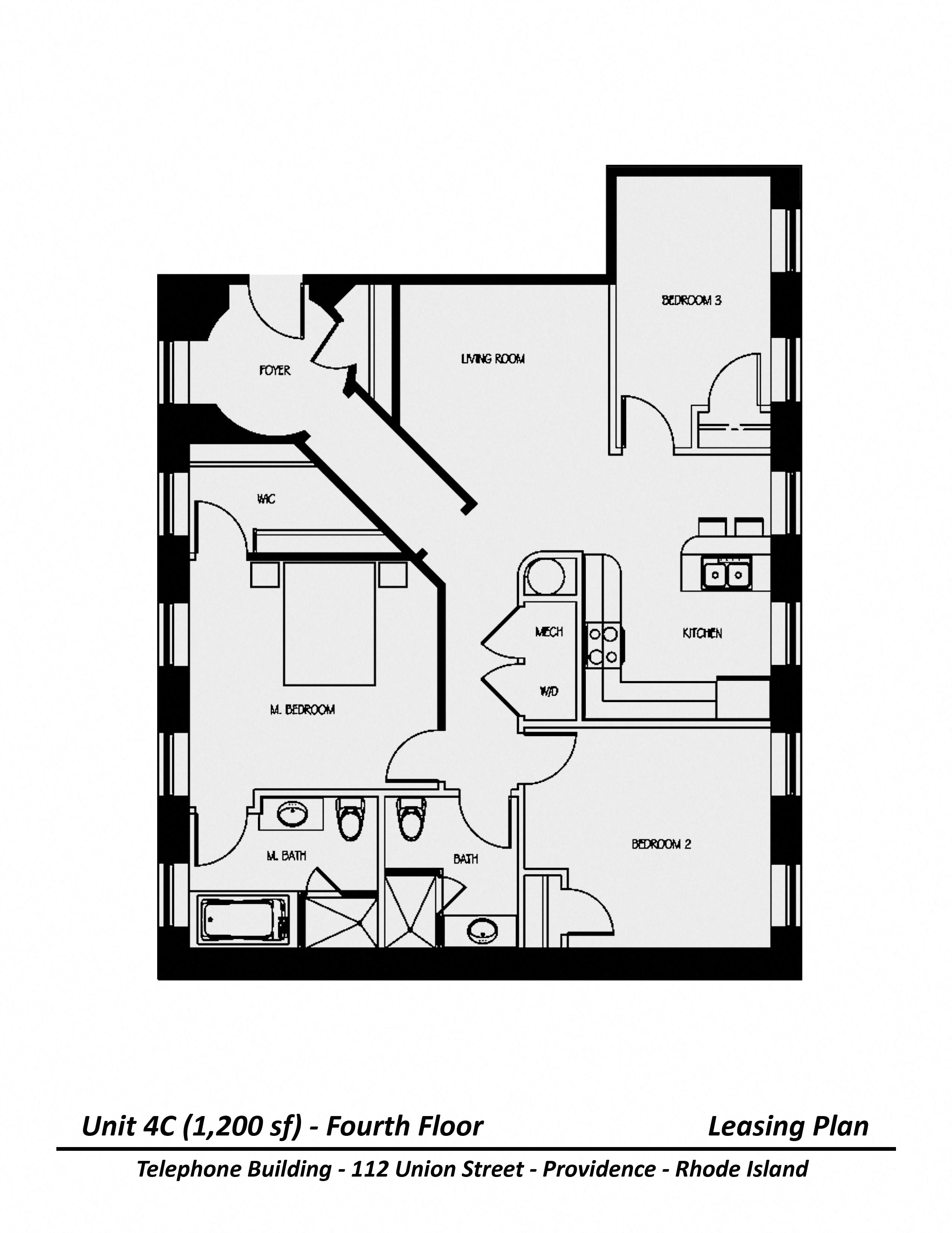 Floor plan Three Bedroom image 2