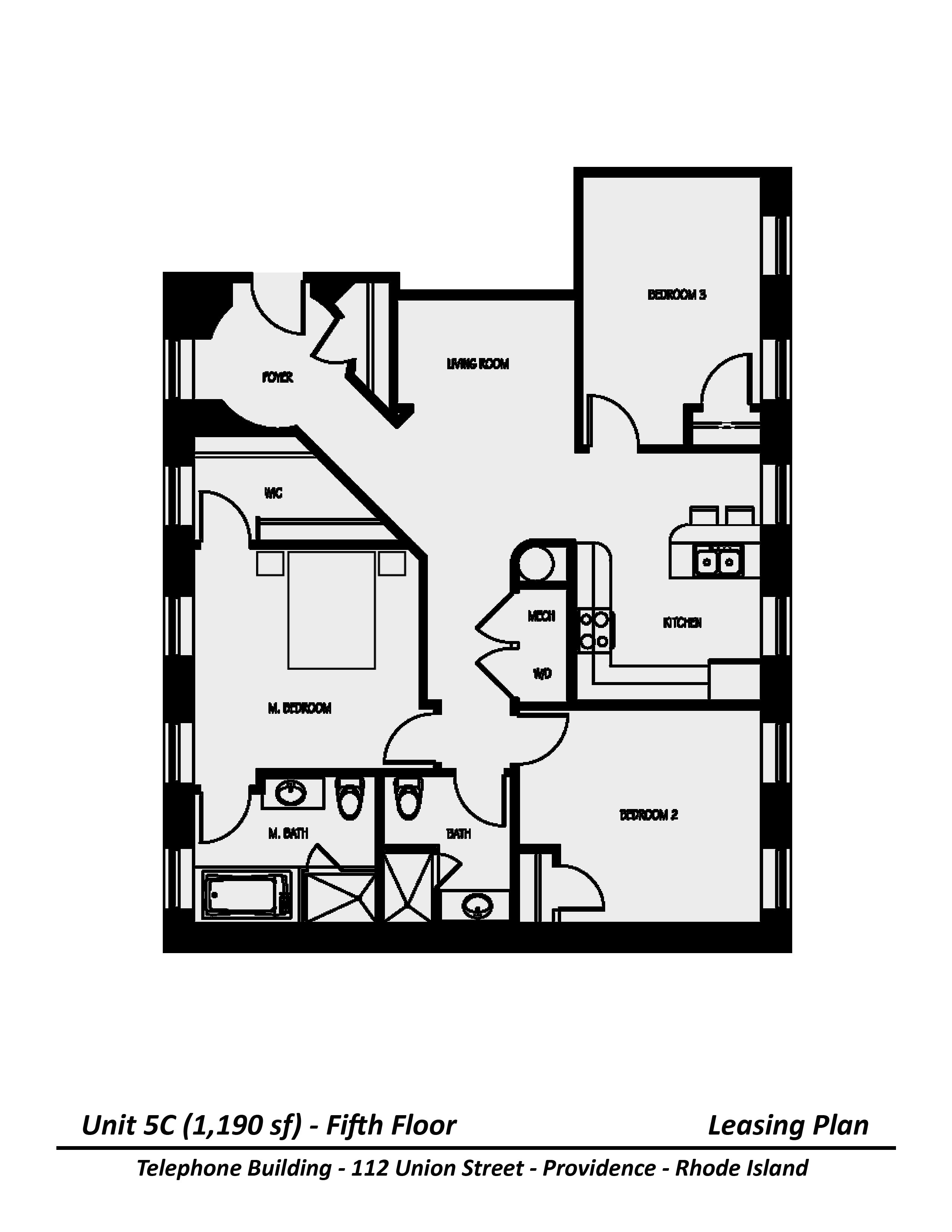 Floor plan Three Bedroom image 3