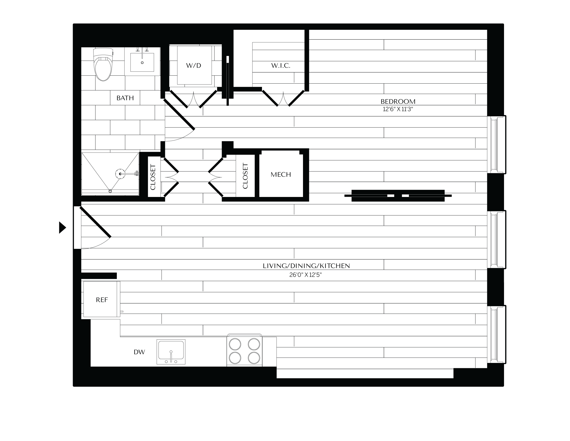 Floorplan image of unit 0504