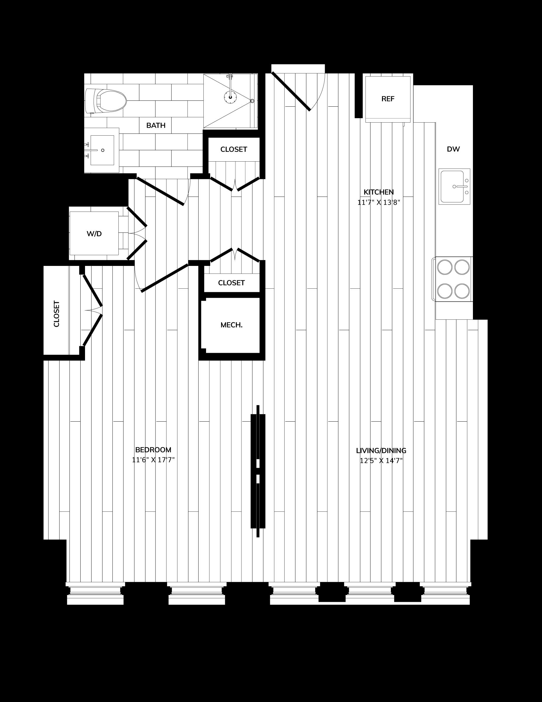 Floorplan image of unit 0910