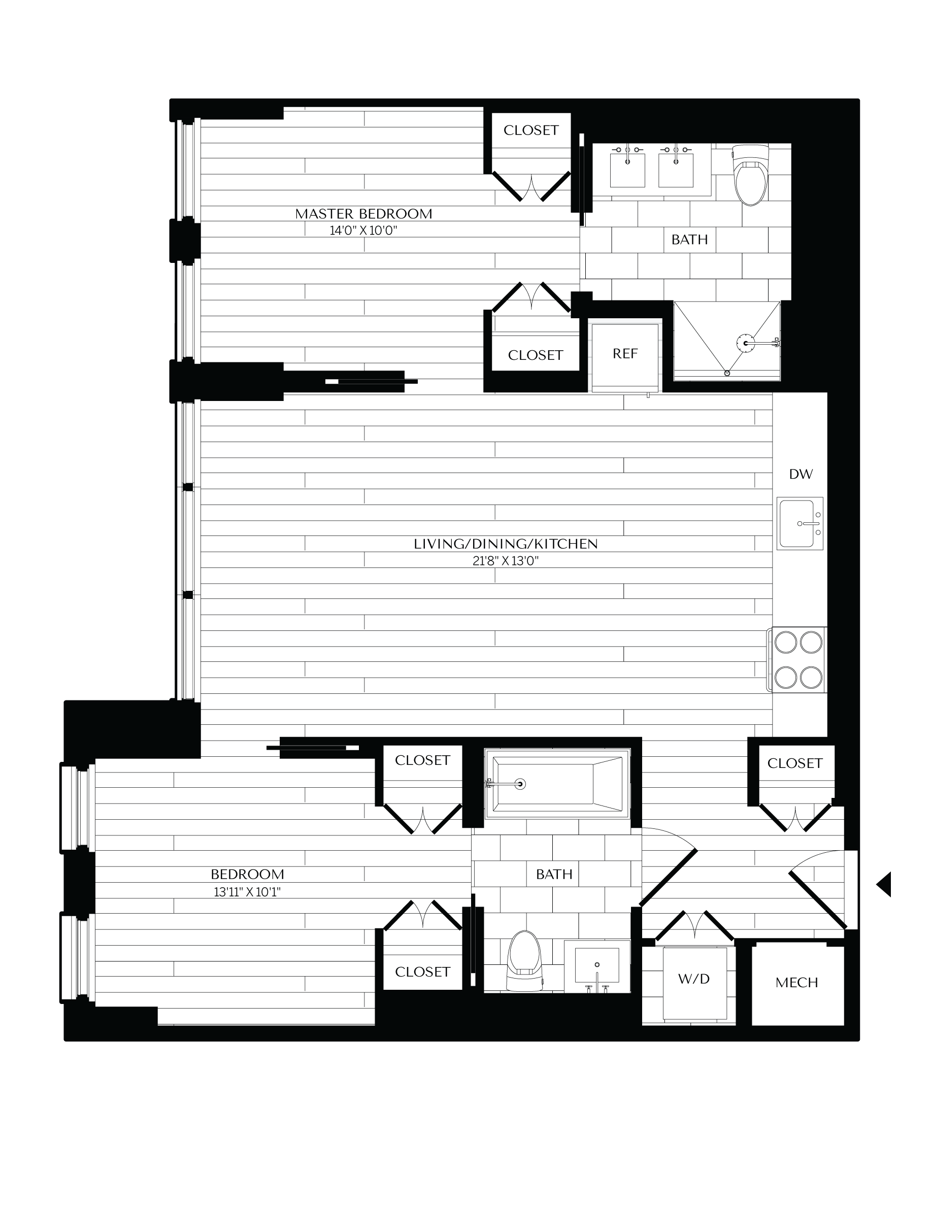 Floorplan image of unit 0502