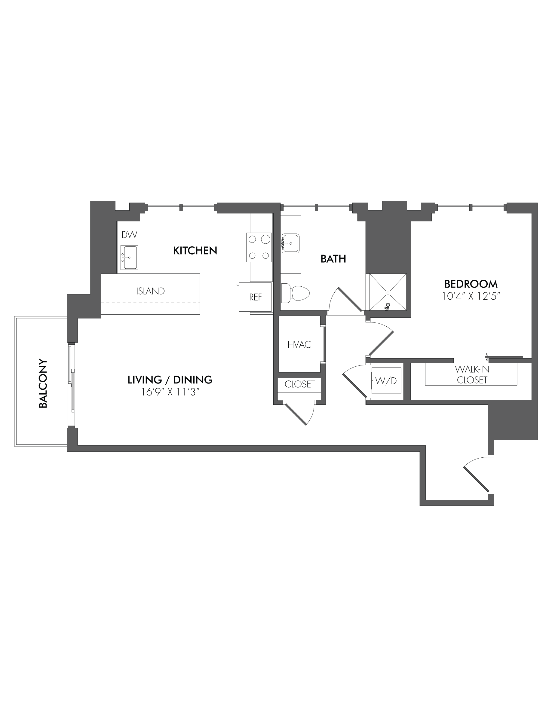 Apartment 1511 floorplan