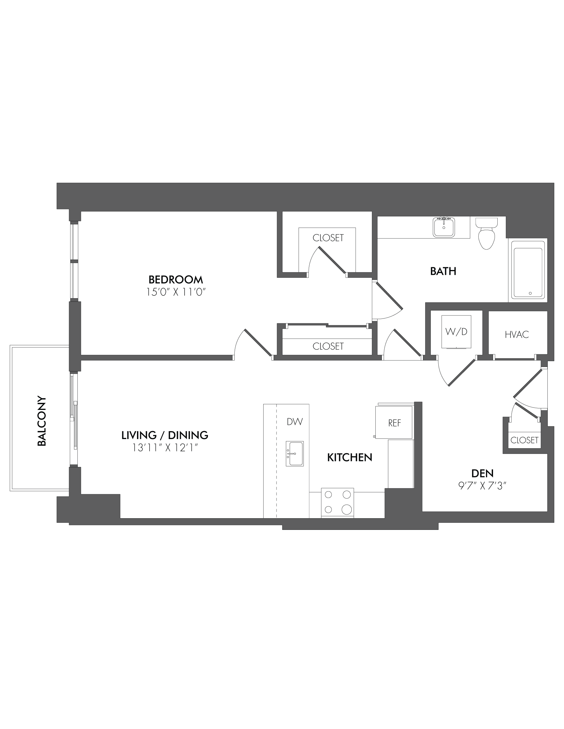 Apartment 2608 floorplan
