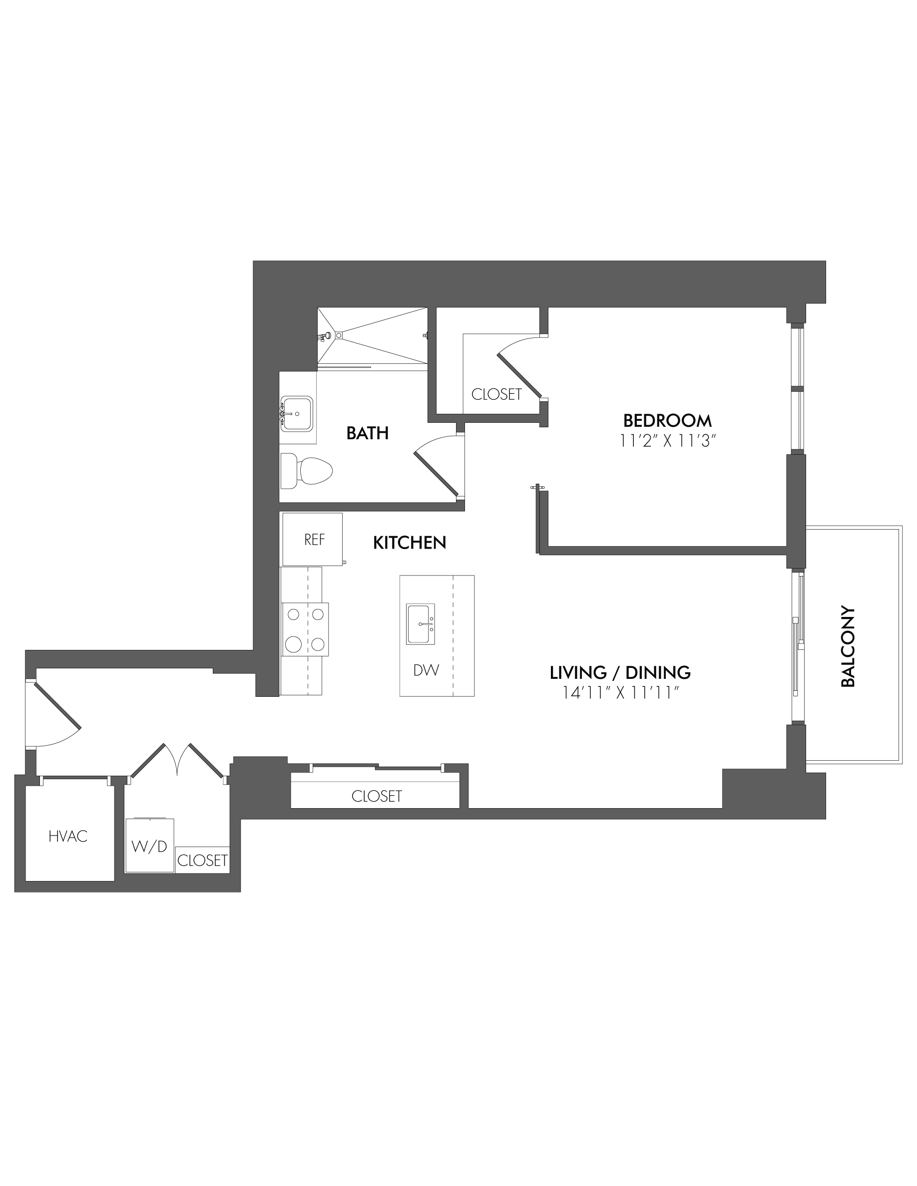 Apartment 2207 floorplan