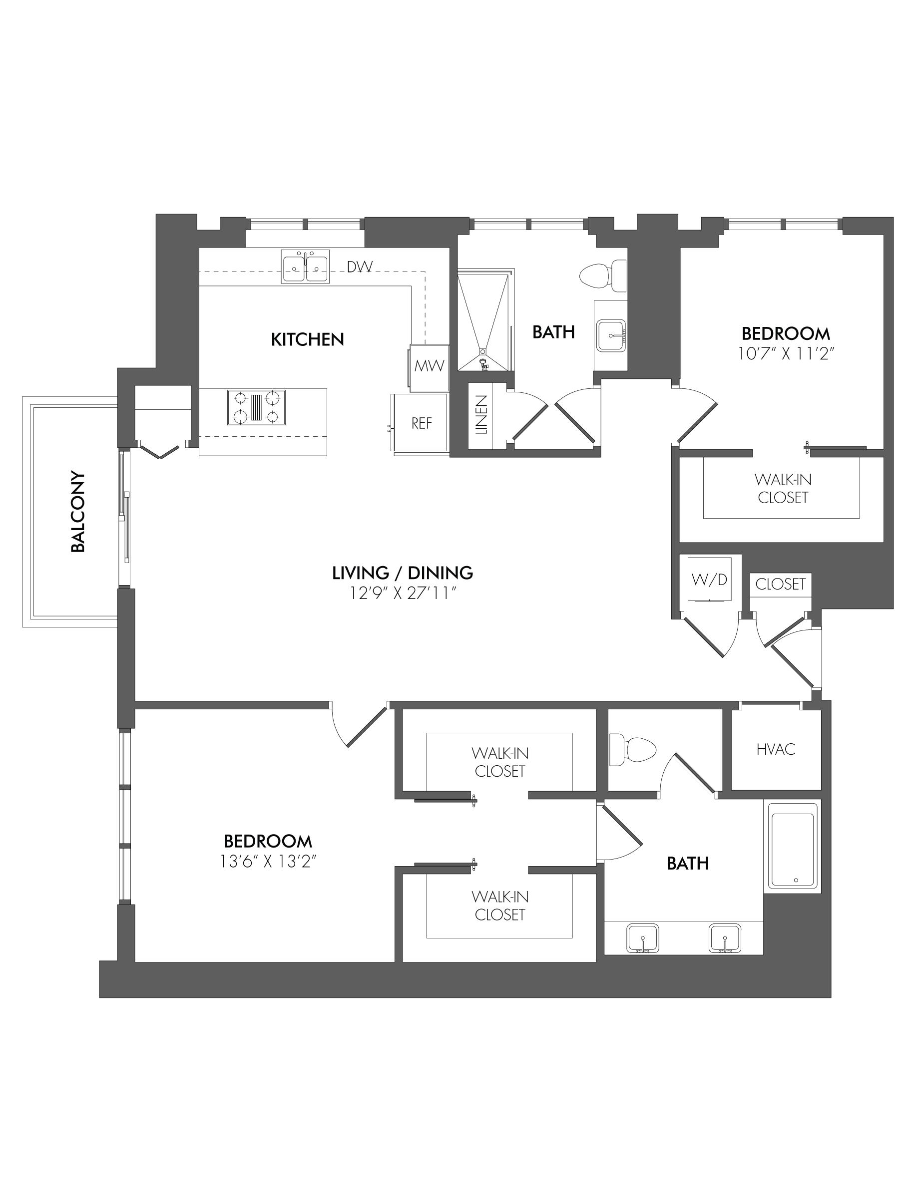 Apartment 4306 floorplan