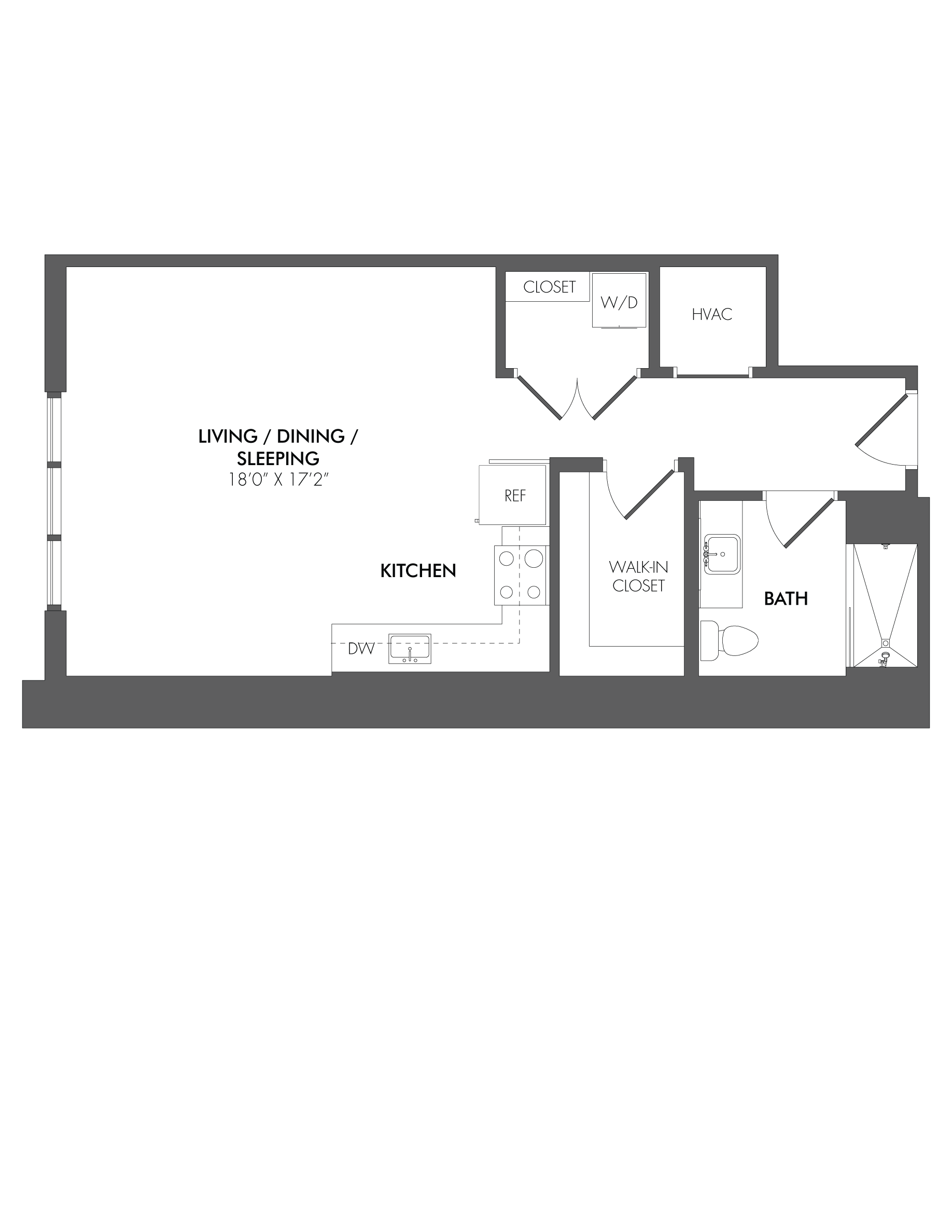 Apartment 1810 floorplan