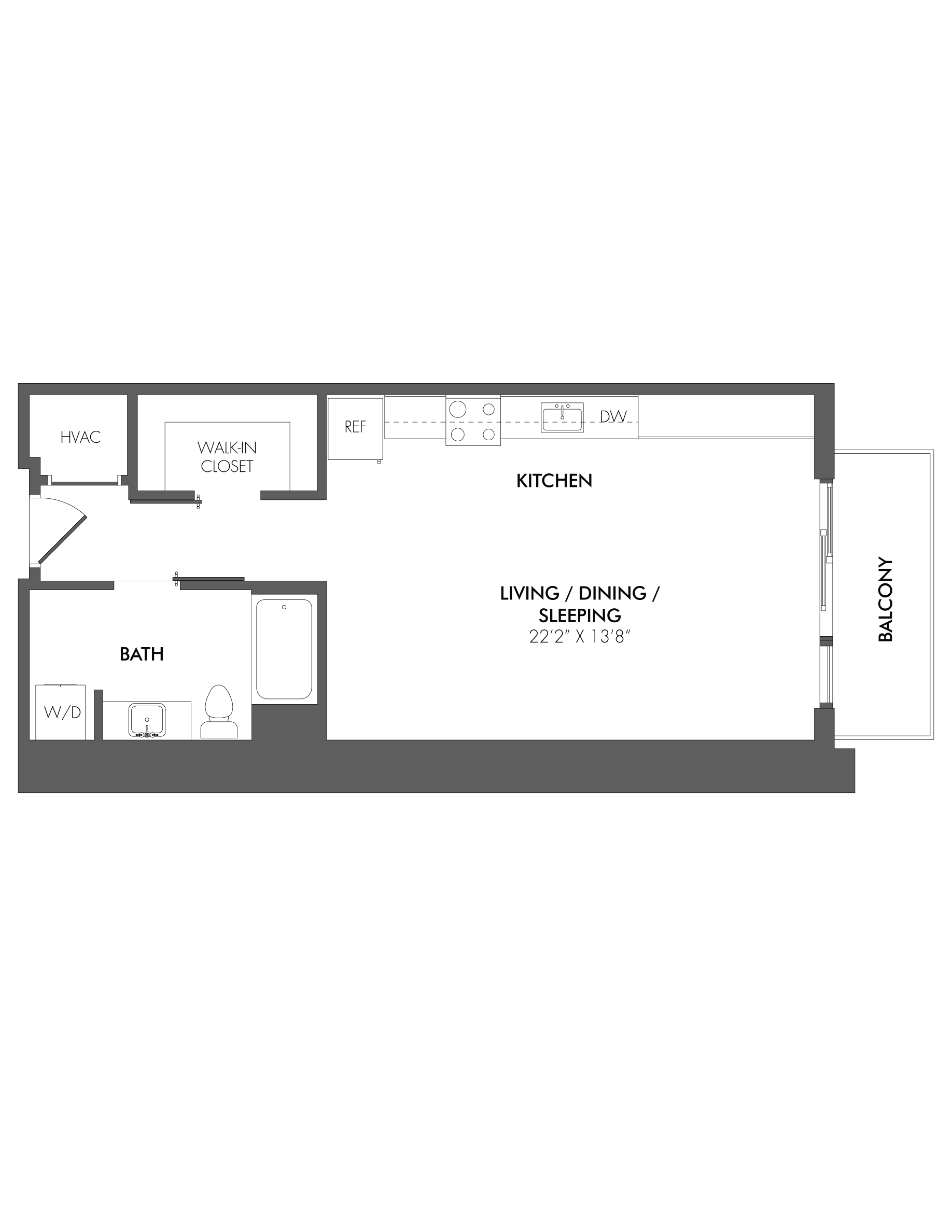 Apartment 1603 floorplan