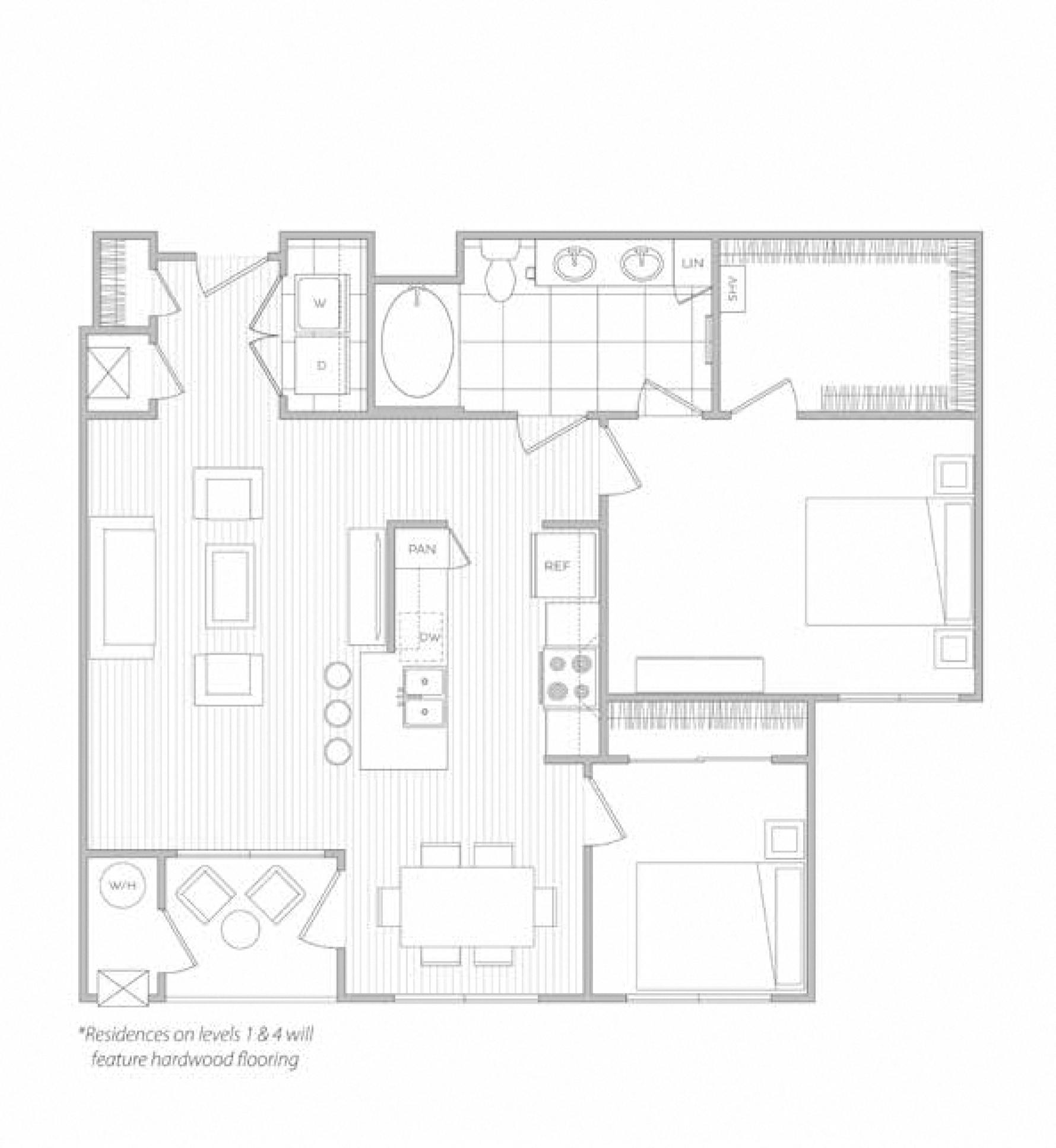 floor plan image of apartment 5203
