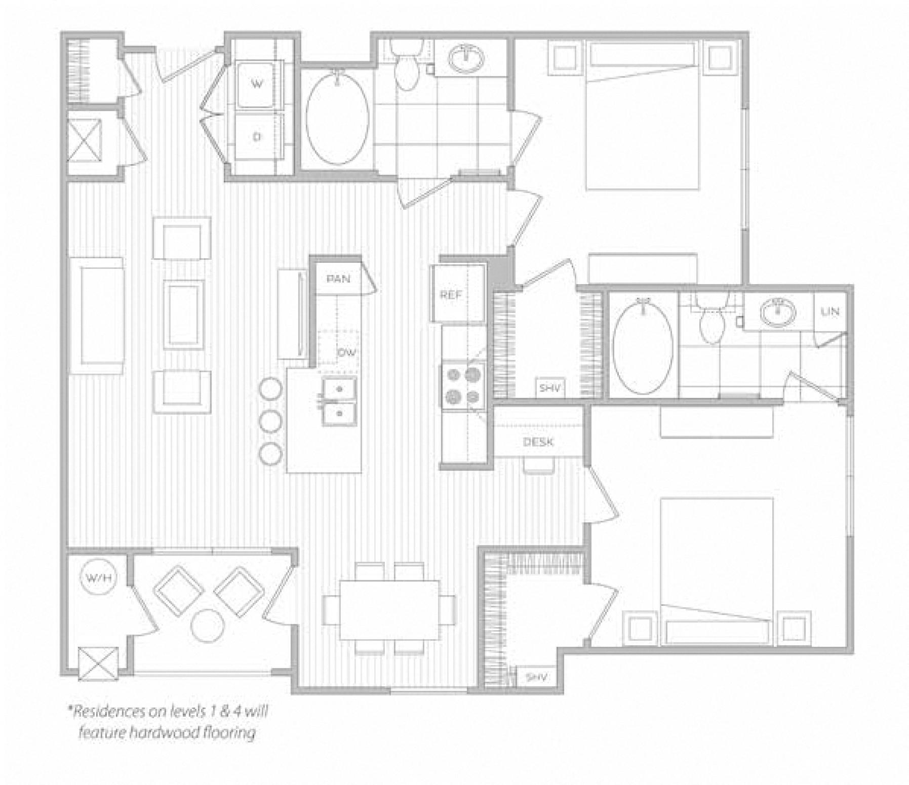 floor plan image of apartment 3201